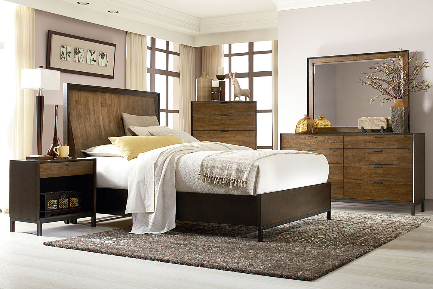 Kipton Contemporary Bedroom Set Wood Bedroom Furniture