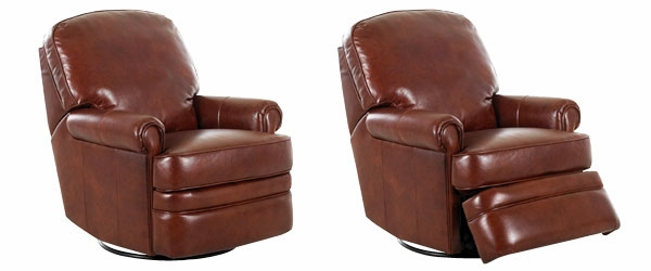 Red Leather Reclining Chair leather swivel glider recliner chair | club furniture