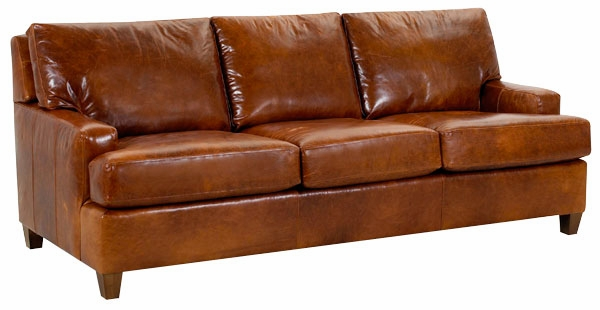 Dempsey Urban Three Seat Leather Sofa - Contemporary Leather Pillow Back Sofa - Club Furniture