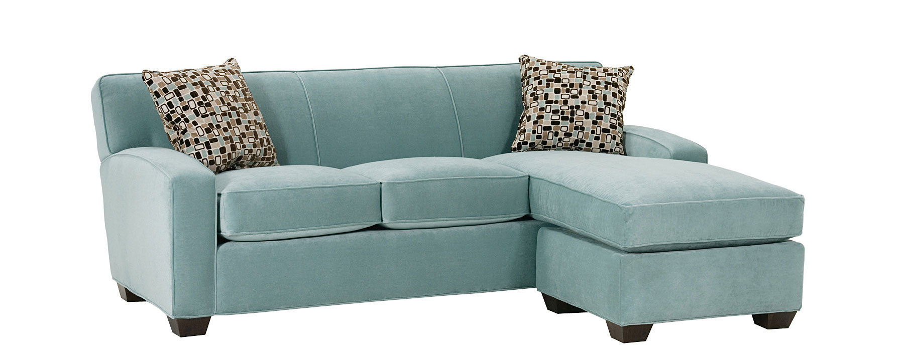 Small contemporary sectional sofa couch with chaise club for Apartment sofa chaise