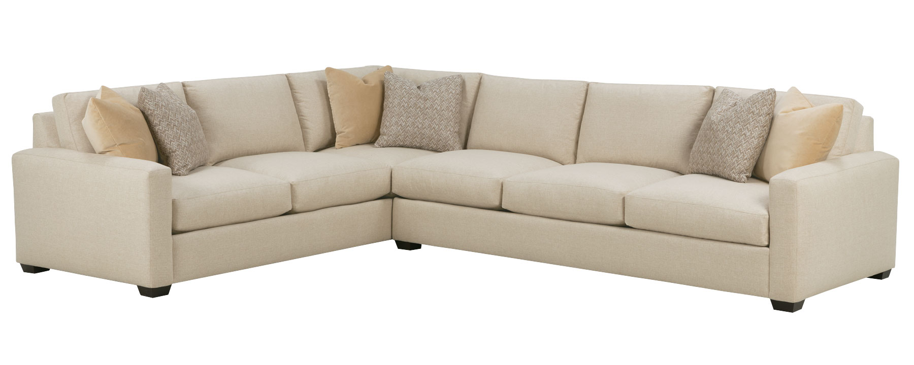 Deep seating large scale track arm sectional club furniture for Oversized sectionals