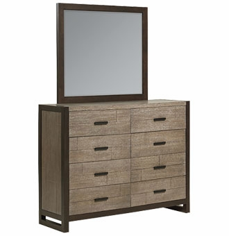 Dorsey bureau with matching mirror for Bureau with mirror