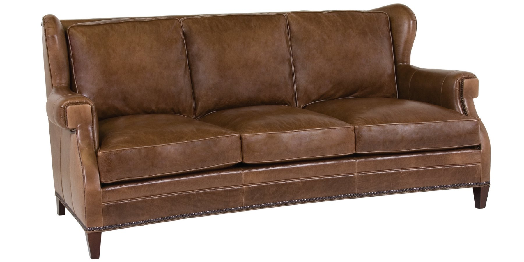 Leather Wingback Sofa Collection Club Furniture : douglas designer style wing back leather sofa w nailhead trim 1 from www.clubfurniture.com size 1800 x 900 jpeg 171kB