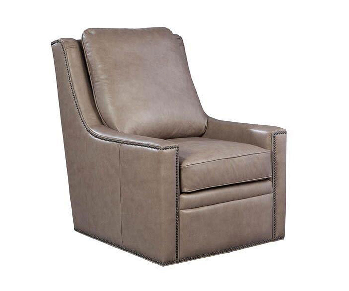 dunbar contemporary  degree leather swivel chair  quick ship  - clubfurniture