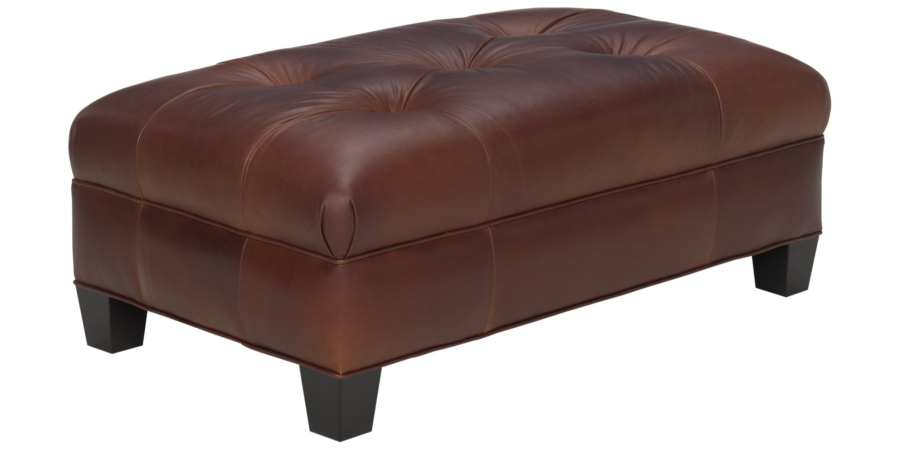 Small Tufted Ottoman Leather Coffee Table Club Furniture
