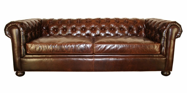 Empire Tufted Chesterfield Queen Sleeper - Leather Sleeper Sofa Beds Club Furniture