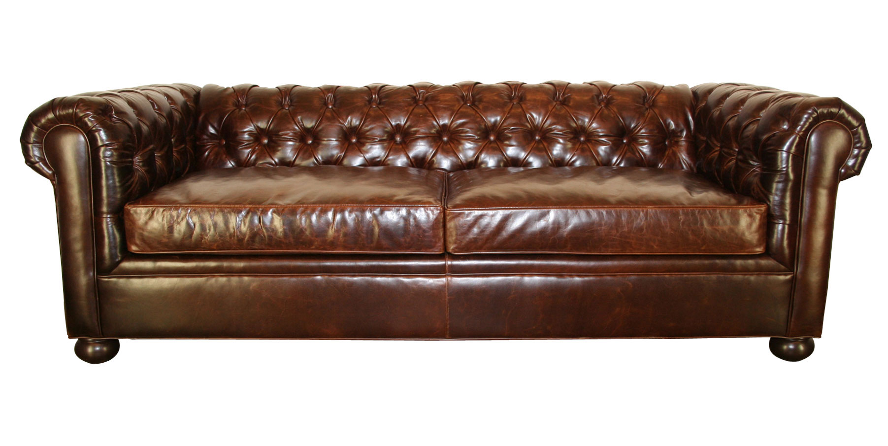 Tufted leather chesterfield living room furniture club for Tufted leather sleeper sofa