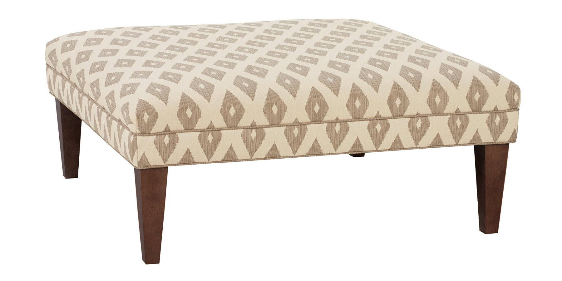 Large Contemporary Square Fabric Cocktail Ottoman
