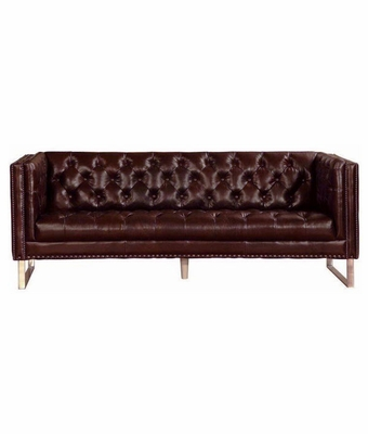 Garrison quotquick shipquot leather contemporary sofa for Garrison leather sectional sofa