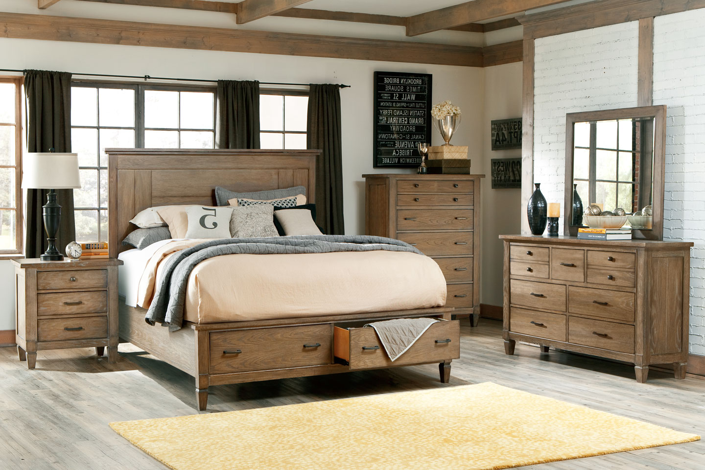 Gavin wood bedroom furniture collection wood bedroom for Furniture bedroom sets