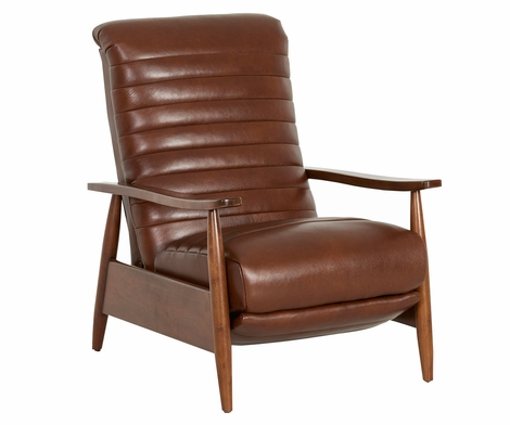 Giles Mid-Century Modern With Reclining Action And Ribbed Back