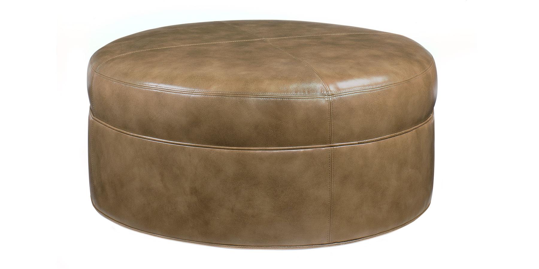 Large round leather drum ottoman club furniture Round leather ottoman coffee table