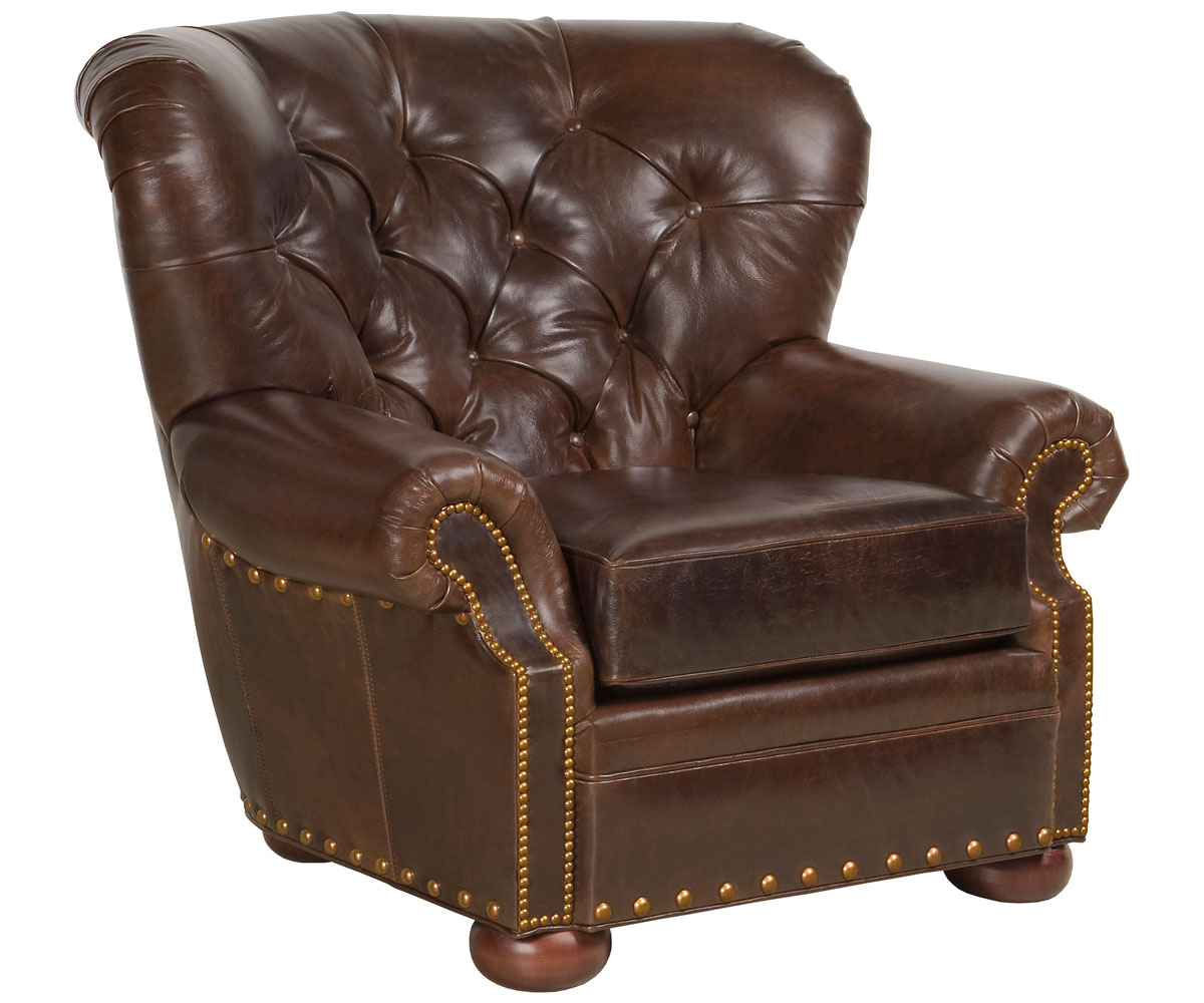 Tufted Leather Club Armchair Club Furniture