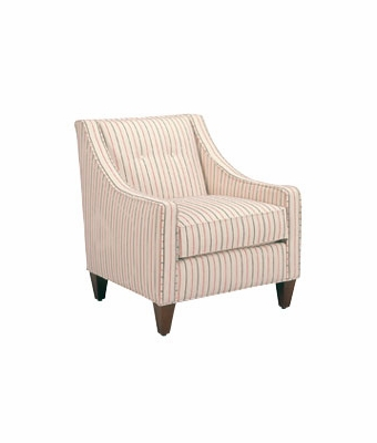 Fabric button back slope arm living room chair for Formal living room accent chairs
