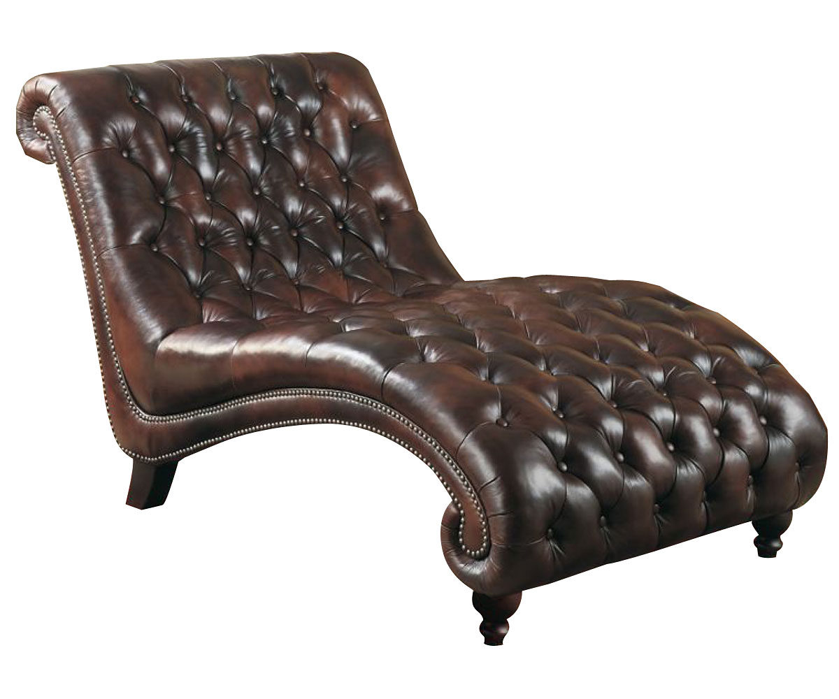 Leather Quot Ready To Ship Quot Tufted Library Chaise
