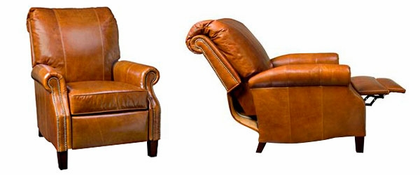 Hanover  Designer Style  Plush Pillow Back Leather Reclining Chair  sc 1 st  Club Furniture & Traditional Leather Recliner With Rolled Arms and Nailhead Trim islam-shia.org