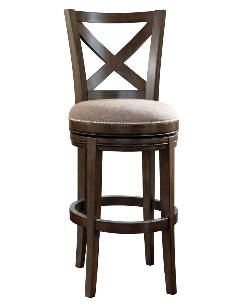 Harris Ready To Ship X Back Swivel Bar Counter Stool