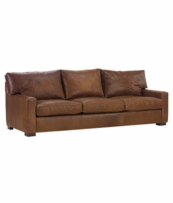 Contemporary 87 Grand Scale Deep Seated Leather Sofa