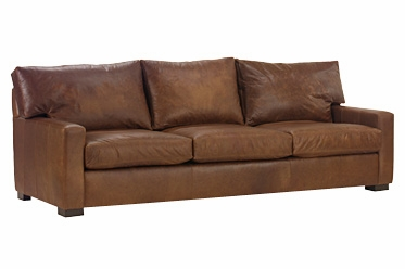 Leather Deep Seated Track Arm Contemporary Sleeper Sofa