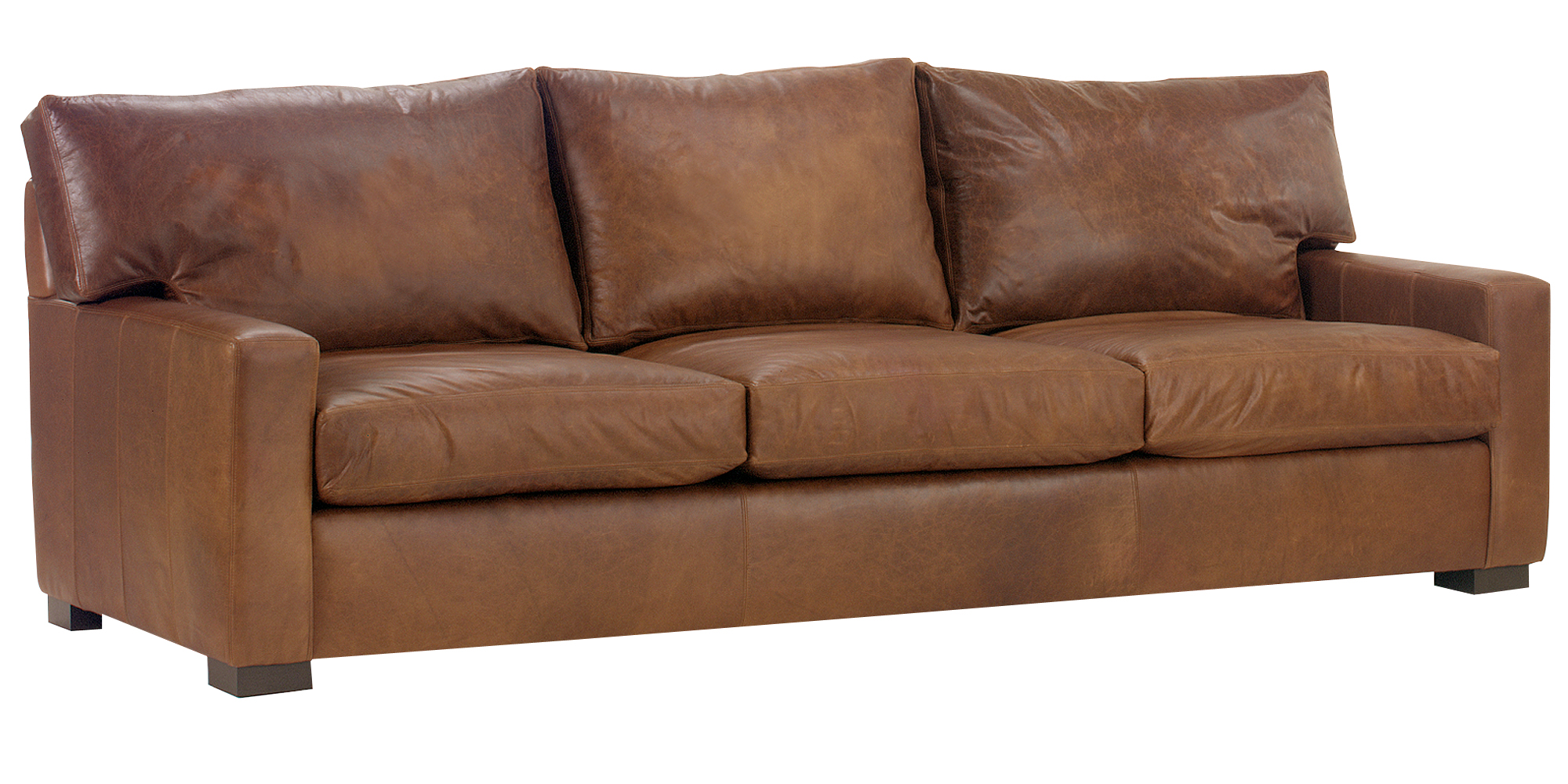 Oversized Contemporary Leather Furniture With Track Arms