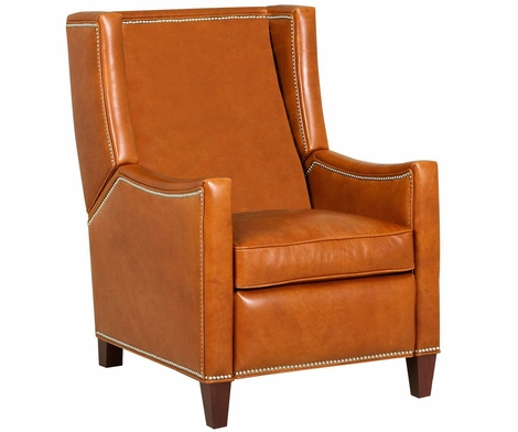 Heywood Wing Back Recliner With Nailhead Trim