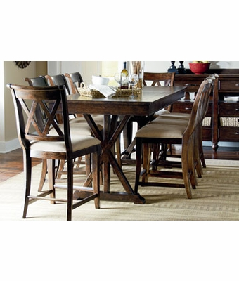 Hunter 9 piece pub style highboy casual dining set for Pub style dining sets