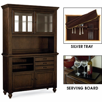 hunter rustic dining buffet w hutch. Black Bedroom Furniture Sets. Home Design Ideas