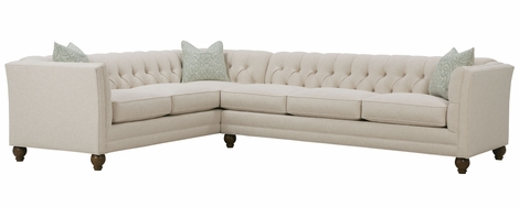 Isadore Tufted Back Fabric Sectional