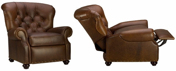 Jackson \ Designer Style\  Tufted Leather Recliner  sc 1 st  Club Furniture & Deep Tufted Leather Recliner Like Buster Reclining Chair islam-shia.org