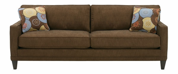 Contemporary Apartment Size 2 Cushion Queen Sleeper Sofa | Club ...