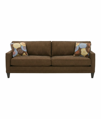 Contemporary Apartment Size 2 Cushion Queen Sleeper Sofa