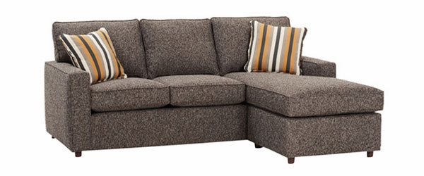 Apartment Size Track Arm Sectional Sofa With Reversible Chaise ...