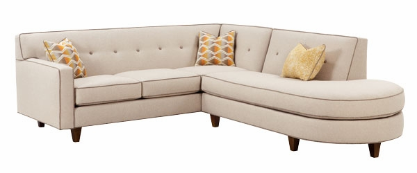 Justine  Designer Style  Two Piece Sectional With Chaise Bumper ...  sc 1 st  Club Furniture : sectional with 2 chaises - Sectionals, Sofas & Couches