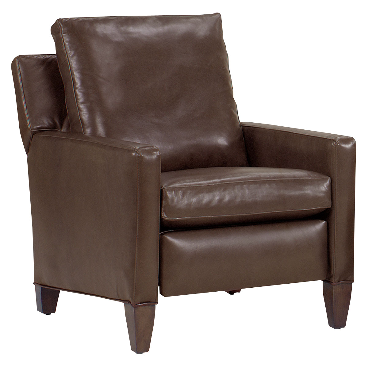 Alvin designer style tall leg leather reclining chair for Chair design leather