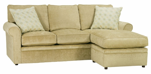 Apartment Size Rolled Arm Sectional Sofa With Reversible Chaise ...