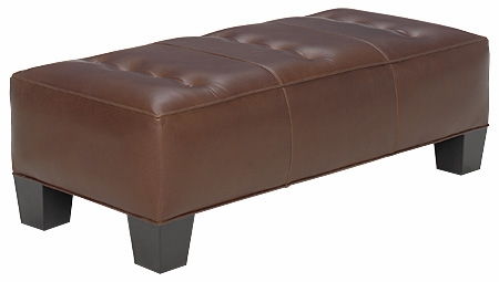 apartment size leather bench cocktail ottoman club furniture. Black Bedroom Furniture Sets. Home Design Ideas