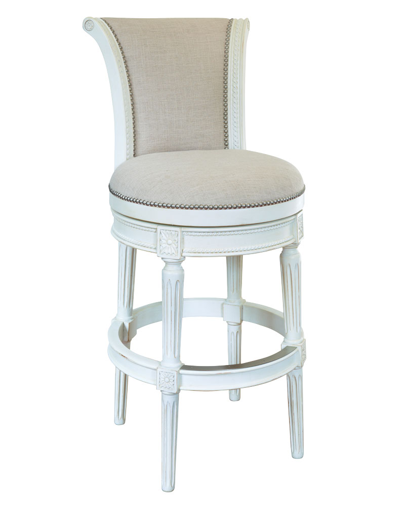 Lowden Vintage White Swivel Bar Amp Counter Stool Collection