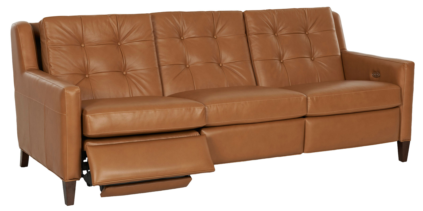 Lowry Mid Century Modern Wall Hugger Reclining Collection Leather Furniture