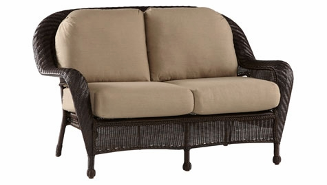 Luana Outdoor Resin Wicker Loveseat