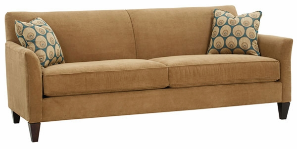Fabric Upholstered Tight Back Wing Arm Sofa
