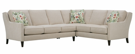 Lynne Sleek Transitional Fabric Sectional