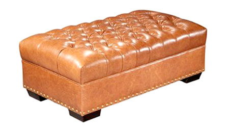 Malcolm Long Button Tufted Coffee Table Bench. Clubfurniture