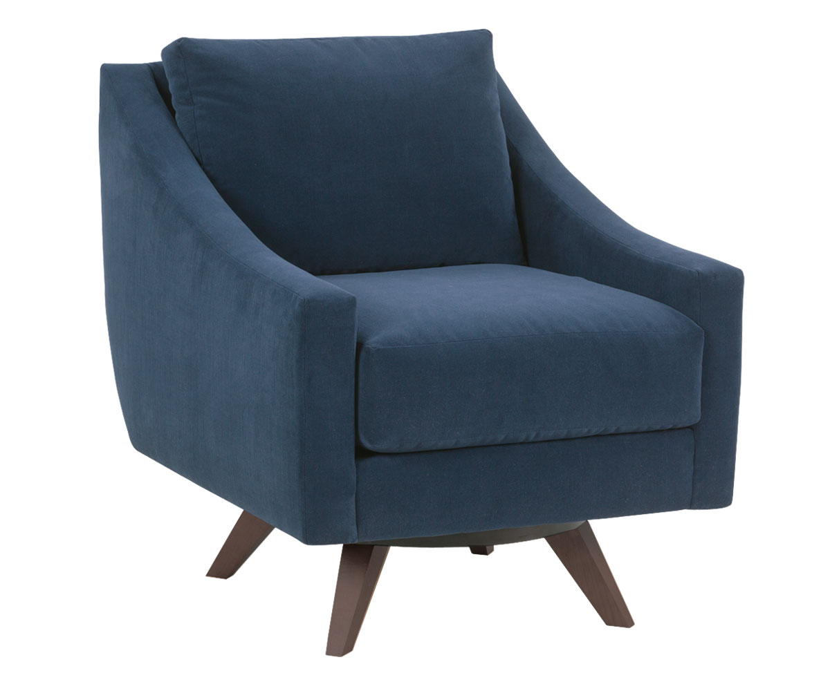 Designer Accent Chairs: Modern Mid Century Modern Fabric Swivel Chair
