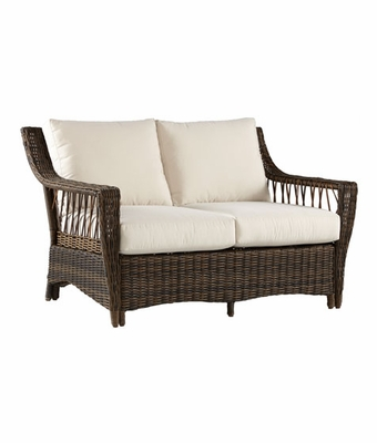 Martinique Outdoor Resin Wicker Loveseat