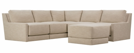 Merritt Modern Pit Style Sectional (Ottoman Same Height As Seat Cushion)