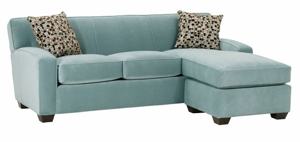 Small Contemporary Fabric Sectional Sofa With Chaise Lounge