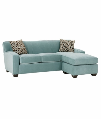 Small Contemporary Fabric Sectional Sofa With Chaise