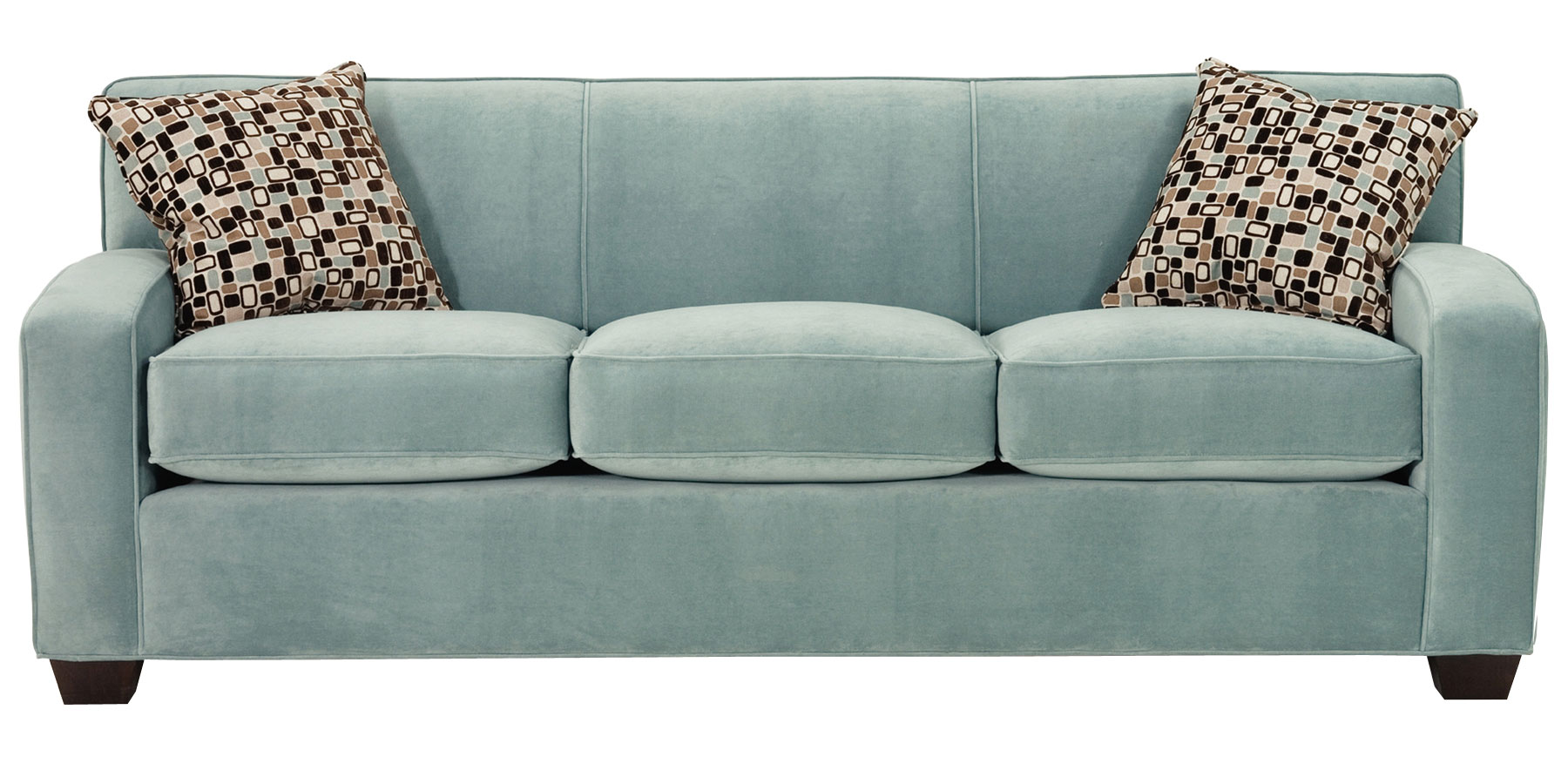 Tight Back Fabric Upholstered Track Arm Couch And Chair