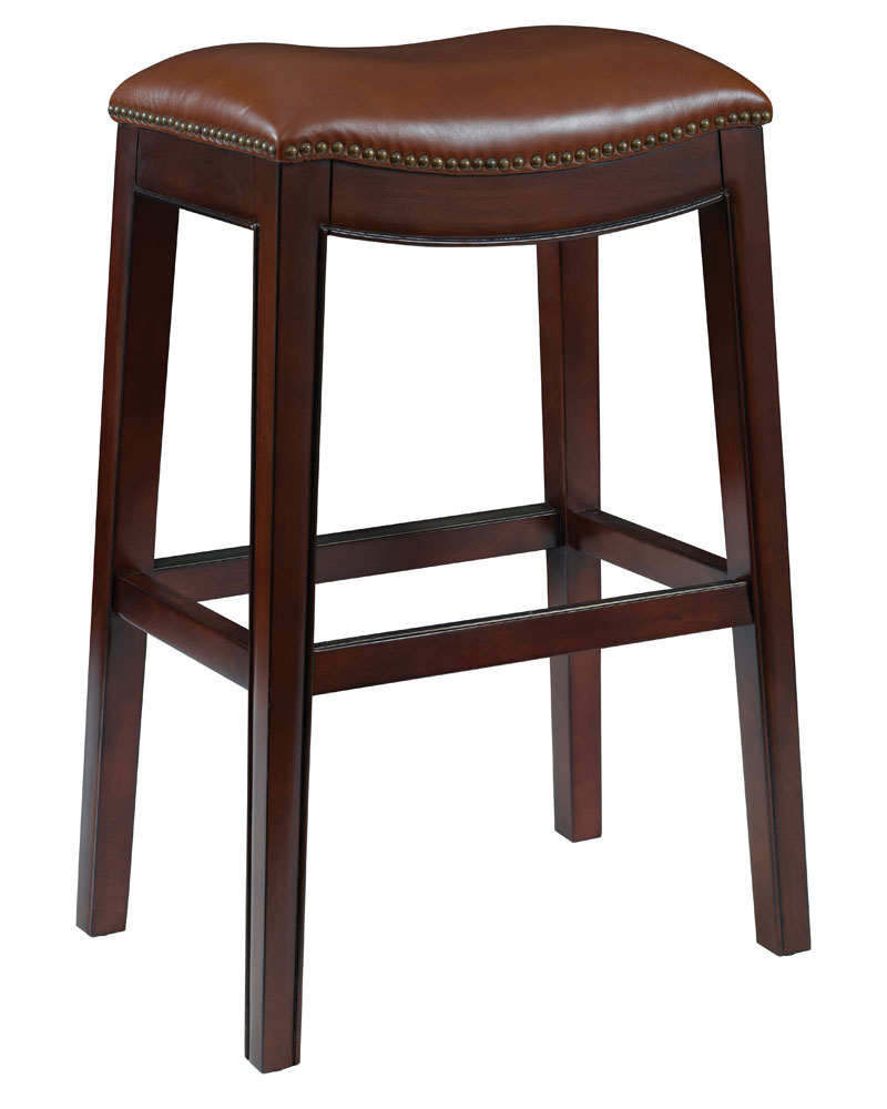Brown Leather Counter And Bar Height Stools Club Furniture