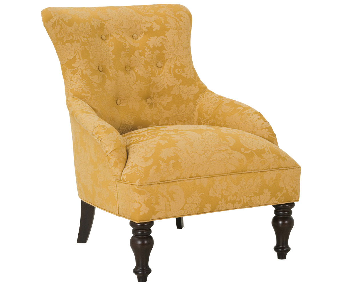 Traditional button tufted armless accent chair with Tufted accent chair